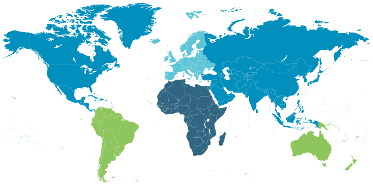 Graphic of the World Map
